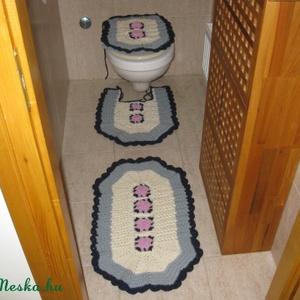 Tavirózsás fürdőszoba garnitúra, Otthon & Lakás, Fürdőszobai dekoráció, Fürdőszoba, Horgolás, Meska