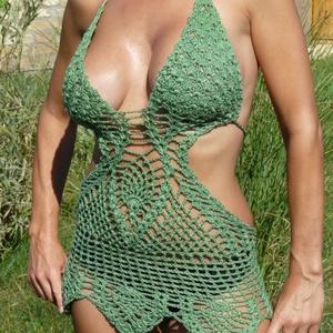 Érdekes zöld trikini (nagyikotodeje) - Meska.hu