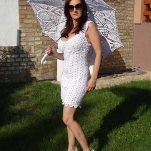 Mini menyasszonyi ruha a csipkék varázsában. - Meska.hu