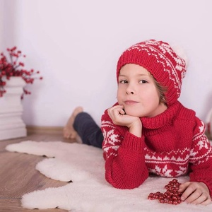 Norvég  pulóver és sapka, Ruha & Divat, Babaruha & Gyerekruha, Pulóver, Kötés, Kis megrendelőmnek készült ez a szép pulóver sapkával 100% extra finom bőrbarát gyapjúból.\nA sapka b..., Meska