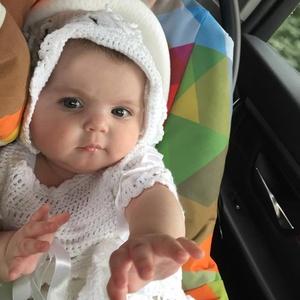 Keresztelő a virágok varázsában, Keresztelő ruha, Babaruha & Gyerekruha, Ruha & Divat, Horgolás, 6 hónapos kicsi lány keresztelőjére készült ez a 100% extra finom pamutból horgolt ruhácska, és sapk..., Meska