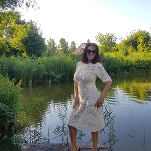 Horgolt ruha a recehorgolás bűvöletében, Ruha & Divat, Ruha, Női ruha, 100% bambuszfonalból készült ez a ruha. A fonal vékonysága, és a leszámolható minta miatt nagyon idő..., Meska
