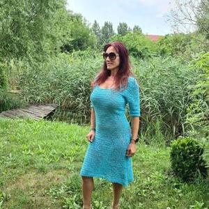 Recehorgolásos álom ruha, Ruha & Divat, Női ruha, Ruha, Luxus minőségű pamut viszkóz fonalból készült ez a nagy munkaigényes ruha. nehézségét az adja, hogy ..., Meska