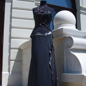 alkalmi ruha, Táska, Divat & Szépség, Női ruha, Ruha, divat, Kosztüm, Varrás, A ruhám fantázia neve :Hullámok\nKülönleges textil,technikákkal,és a különböző anyagok harmonikus alk..., Meska