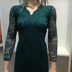 Csipke ruha sötétzöld. Ingyenes szállítás. (nagyilona) - Meska.hu