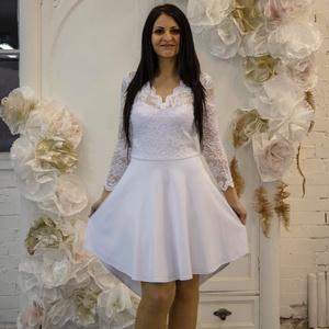 Csipke ruha.Deréknál szabott., Táska, Divat & Szépség, Női ruha, Ruha, divat, Ruha, Varrás, Fehér csipkeruha.\nTrendi -csini,elegáns -nőies.\nGyönyörű rugalmas csipke.\nKellemes lágy anyagból.\nDe..., Meska