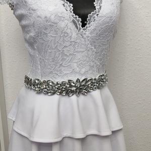 Csipke ruha fehér rugalmas csipkéből , Ruha, Női ruha, Ruha & Divat, Varrás, Csipke ruha fehér\nTrendi-elegáns-nőies\nGyönyörű rugalmas csipke.Lágy kellemes viselet. \nDerékban sza..., Meska