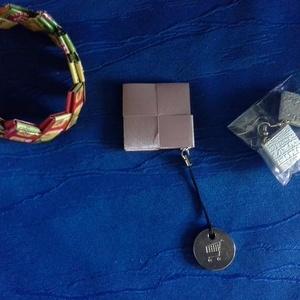 Karkötő, Ékszer, Karkötő, Papírművészet, Tapétából készült egyedi karkötő, Meska