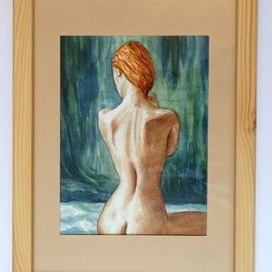 Elfordulva - akvarell keretben - Meska.hu