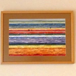 Virágok tengere - akvarell keretezve, Művészet, Festmény, Akvarell, Festészet, Fotó, grafika, rajz, illusztráció, Meska