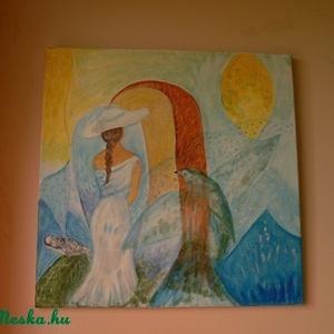 képzelet, Művészet, Festmény, Akril, Festészet, Vászon méret :50x50 cm  akril\n\nÁr:12500 Ft, Meska