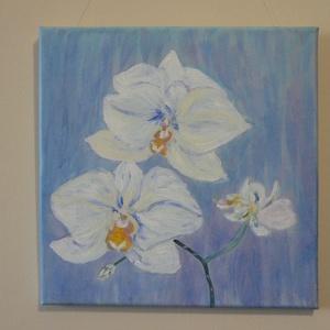 orhideák, Művészet, Akril, Festmény, Festészet, Meska