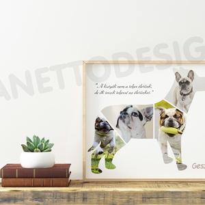 kutya kiskutya házi kedvenc saját kutyánk fotójával fényképes print montázs fali dekoráció poszter hűséges társ ajándék (nanetto) - Meska.hu