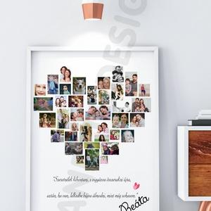 szülinapi poszter valentin nap fényképes sziv szivecskés fotós montázs kollázs esküvő születésnap különleges alkalom, Gyerek & játék, Dekoráció, Otthon & lakás, Esküvő, Szerelmeseknek, Ünnepi dekoráció, Fotó, grafika, rajz, illusztráció, Elmondanád mennyire szereted? \nBeszéljenek helyetted a sok-sok közösen készített fotó?\n Akkor válasz..., Meska