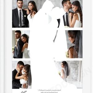 Egyedi fényképes házassági évfordulós poszter kerettel, Esküvői fotós nászajándék szerelmes pároknak, Évforduló ötlet - Meska.hu