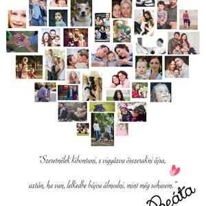 Szülinapi poszter Szív alakú, A3-as print,egyedi fényképes, kép, fotó, poszter, montázs, babavárás, örökkön örökké  (nanetto) - Meska.hu