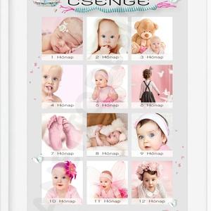 Egyedi kislány fényképes 1 éves szülinapi poszter kerettel, 1 éves szülinapi ötlet ajándékba, Babanapló, 12 hónap fotói, Dekoráció, Otthon & lakás, Lakberendezés, Kép, Falikép, Mindenmás, Készülsz a nagy napra? \nMár 1 éves a kislányod, vagy szeretted gyermeke? Akkor jó helyen jársz.\nEz a..., Meska
