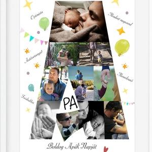 Apák napja legjobb apa falidekor emléklap poszter KERETTEL, Szülinapi családi fényképes falikép, Születésnap szuperhős, Kép & Falikép, Dekoráció, Otthon & Lakás, Fotó, grafika, rajz, illusztráció, Megajándékoznád valami különlegessel a ház urát? Közeleg az apák napja és valami egyedi, de mégis sz..., Meska