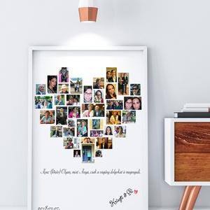 Apák napja szív alakú, print egyedi fényképes kép fotó szülinapi poszter montázs babavárás nagypapa apu apa házi áldás, Gyerek & játék, Szerelmeseknek, Ünnepi dekoráció, Dekoráció, Otthon & lakás, Kép, Fotó, grafika, rajz, illusztráció, Elmondanád mennyire szereted? \nSok-sok gyönyörű fotó készült az évek során a gyerekekről?\nBeszéljene..., Meska