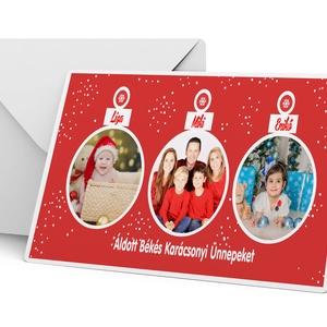6 db-os karácsonyi képeslap fényképes karácsonyi képeslap csomag 6 db christmas postcard mézi ajándékkisérő hópihe (nanetto) - Meska.hu