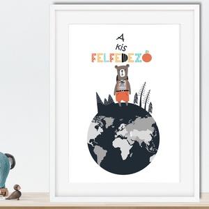 skandináv minimál poszter kerettel, állatos világtérkép földgömb kontinens babaszoba falidekor szülinapi babakártya, Gyerek & játék, Gyerekszoba, Baba falikép, Dekoráció, Otthon & lakás, Képkeret, Fotó, grafika, rajz, illusztráció, Skandináv minimál stilusban megkreált poszter. Használhatod önállóan, vagy készletben is, amit itt t..., Meska