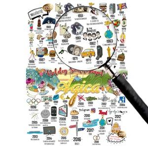 arany évek, Egyedi szülinapi infoposzter kerettel, Vicces kerek évforduló ajándék,1950, 1960, 1970, 1980, 1990, Férfiaknak, Szerelmeseknek, Ünnepi dekoráció, Dekoráció, Otthon & lakás, Egyéb, Fotó, grafika, rajz, illusztráció, Gondolkodsz a kerek évfordulón milyen igazán egyedi ajándékkal lepnéd meg a családod, közeli hozzáta..., Meska