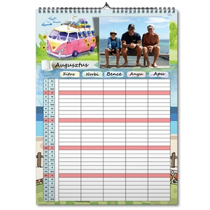 fényképes családi rendező A3 naptár határidőnapló beosztás manager életesemény hobbi családi naptár szervező tábla fotós, Otthon & lakás, Lakberendezés, Naptár, képeslap, album, Naptár, Gravírozás, pirográfia, A családi rendező naptár egy olyan eszköz, amely 1 éven keresztül gyűjti össze családtagjaid tevéken..., Meska