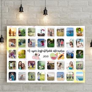 Egyedi névreszóló instagram fényképes ajándék Kerettel, Fotókollázs nászajándék szülinapi emléklap 1950 1960 1970 1980, Kollázs, Művészet, Fotó, grafika, rajz, illusztráció, Rengeteg a fotód vagy épp ajándékot keresel valakinek?\nEz a vidám, fotókból életre keltett poszter a..., Meska