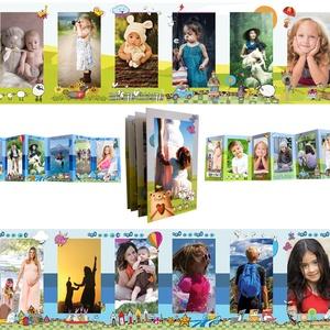 Fényképes újszülött emléklap, babastatisztika poszter, megérkeztem leporelló gyerek- és babaszoba dekoráció fotóalbum, Album & Fotóalbum, Papír írószer, Otthon & Lakás, Fotó, grafika, rajz, illusztráció, A TERMÉK 2 DB HARMÓNIKA LEPORELLO KÁRTYÁT TARTALMAZ!!!!!, amely készülhet 2 különböző témakörű fotóv..., Meska