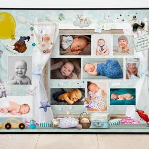 Kisfiú babaváró ajándék emléklap kerettel, Várandós pocakos baba poszter, Babaszületés első kórházi születési fotók, Dekoráció, Otthon & lakás, Kép, Gyerek & játék, Gyerekszoba, Baba falikép, Mindenmás, Az első pillanatok montázs\nGarantáltan az egyik legjobb ajándékötlet nemcsak újszülött érkezésekor, ..., Meska