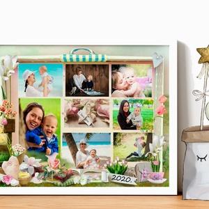 Fényképes szülinapi poszter édesanyának, nagyinak kerettel, Fotós vidám virágos poszter lakásavatóra, Névnapi évforduló, Gyerek & játék, Esküvő, Nászajándék, Dekoráció, Otthon & lakás, Gyerekszoba, Baba falikép, Kép, Fotó, grafika, rajz, illusztráció, Egy bőrönd nem csak az utazásokhoz fontos kellék, hanem, hogy sok-sok fotóval megtömjük. Biztosan ná..., Meska