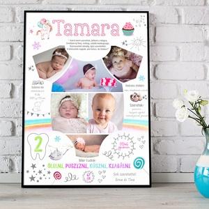 Egyedi fényképes 1 éves kislány / kisfiú eméklap kerettel, Body formájú fotós poszter keresztelőre, Babaváró ajándék , Dekoráció, Otthon & lakás, Lakberendezés, Kép, Gyerek & játék, Gyerekszoba, Baba falikép, Mindenmás, Készülsz a nagy napra? \nMár 1 éves a kisfiad, kislányod, vagy szeretted gyermeke? Akkor jó helyen já..., Meska