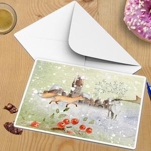 Egyedi A5-ös szókereső képeslap, enigma, keresztrejtvény, rejtvény, mókás vicces ajándék, karácsonyi üdvözlőlap sorsjegy, Otthon & Lakás, Karácsony & Mikulás, Karácsonyi képeslap, Fotó, grafika, rajz, illusztráció, Szeretitek a közös játékokat? Kicsit különlegessé szeretnéd tenni az ünnepi időszakot?\nA Mikulás zsá..., Meska