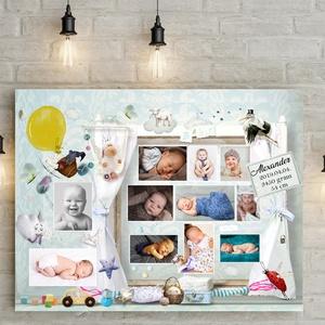 Fényképes kisfiú baba emléklap poszter Várandóság születés első pillanatok várandós emlékőrző Babaváró fotós ajándék - otthon & lakás - dekoráció - Meska.hu