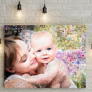 Fényképes mozaikfotó mozaik kép nászajándékba, férjnek, szerelmemnek, feleségemnek barátnő fotós falidekor kollázs 40,, Otthon & Lakás, Dekoráció, Falra akasztható dekor, Fotó, grafika, rajz, illusztráció, Meska