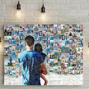 Fotómozaik mozaikfotó mozaikkép fotó fényképes kollázs, Születésnap szülinapi poszter nászajándék esküvő kerek évforduló, Otthon & Lakás, Dekoráció, Kép & Falikép, Fotó, grafika, rajz, illusztráció, Meska