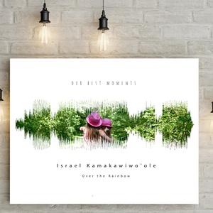 Egyedi fényképes hanghullám poszter kerettel, különleges ajándék, nászajándék születésnap szülinap közös tánc lakásavató, Otthon & Lakás, Dekoráció, Falra akasztható dekor, Fotó, grafika, rajz, illusztráció, Meska