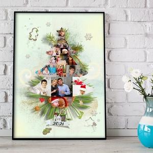 Karácsonyfa poszter fényképes karácsonyfa falidekor mütermi fotó képtár album nagyszülő édesanya sorsjegy csillagtérkép - Meska.hu