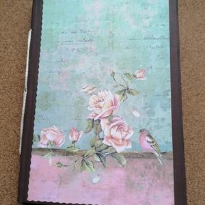 Vintage stílusú napló kávéval festett lapokkal , Otthon & Lakás, Papír írószer, Jegyzetfüzet & Napló, Könyvkötés, Vintage stílusú napló kávéval festett lapokkal, 14,5x20cm, 80 oldal, Meska