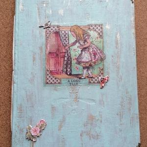 Vintage stílusú napló kávéval festett lapokkal , Otthon & Lakás, Papír írószer, Jegyzetfüzet & Napló, Könyvkötés, Vintage stílusú napló kávéval festett lapokkal 17,5x20cm 74 oldal, Meska