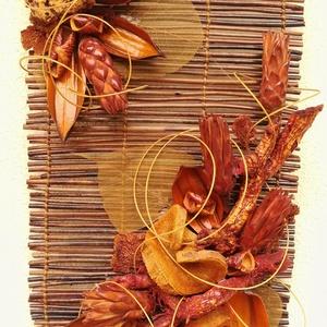 Falikép, Kép & Falikép, Dekoráció, Otthon & Lakás, Virágkötés, Mindenmás, Száraz virágos falikép narancsos-barnás színvilággal. Kellemes meleg hangulatot áraszt. Kiváló ajánd..., Meska