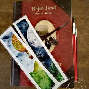 Kézzel festett egyedi tervezésű könyvjelzők, Képzőművészet, Otthon & lakás, Festmény, Akvarell, Festészet, Kézzel és szívvel lélekkel festem ezeket a kis könyvjelzőket. Akvarell festékkel vastag akvarell pap..., Meska