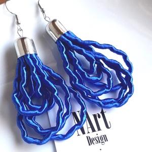 Akció! Rois design fülbevaló, Ékszer, Fülbevaló, Lógó csepp fülbevaló, Ékszerkészítés, Rois királykék szìnű fülbevalót egyedi tervezés alapján alkottam zsinórból. A szìne fogott meg amiko..., Meska