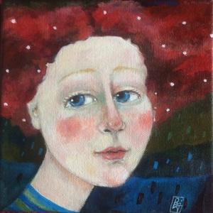 Estike / akril kép /, Otthon & lakás, Képzőművészet, Festmény, Festészet, Ez a kép, megint egy fantázia szüleménye, de akár lehetne egy mese illusztrációja is.\nAkril techniká..., Meska
