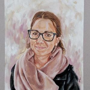 Portréfestés fotó alapján 30x40cm-es méretben, Otthon & lakás, Képzőművészet, Festmény, Olajfestmény, Festészet, A festményt kapott fotó alapján készítem el, olajfestékkel, 30x40cm-es feszített vászonra, így igazá..., Meska