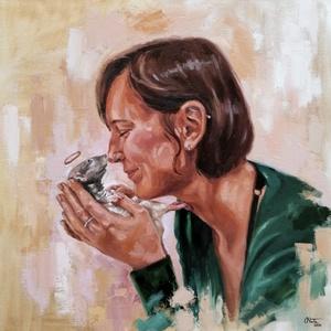 Portréfestés fotó alapján 40x50cm-es méretben, Olajfestmény, Festmény, Művészet, Festészet, A festményt általad választott fotó alapján készítem el, 40x50cm-es méretben. Olajfestéket és kiváló..., Meska