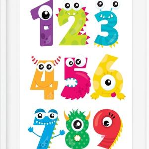 Montessori tanulószám poszter KERETTEL, Szörny falikép, Tanulószám óvoda bölcsőde dekoráció,Ovis zsúr ajándék szülinapra, Gyerek & játék, Gyerekszoba, Baba falikép, Dekoráció, Otthon & lakás, Képkeret, Fotó, grafika, rajz, illusztráció, Feldobnád a gyereked szobáját, vagy ajándékba keresel valami igazán egyedit kis emberek számára? Akk..., Meska