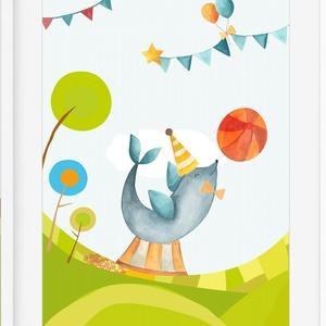 Cirkusz1 babaszoba gyerekszoba falikép KERETTEL, Szülinapi ovis zsúr ajándékötlet, Keresztelő névadó egyedi fókás kép, Gyerek & játék, Gyerekszoba, Dekoráció, Otthon & lakás, Baba falikép, Fotó, grafika, rajz, illusztráció, Cirkuszos kollekció 1 darab\nSzereted a cirkusz különleges világát? \nEzen a bájos poszteren biztosan ..., Meska