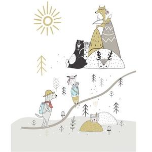 Skandináv minimál stilus gyerekszoba poszter KERETTEL, Indián témájú szülinapi keresztelő zsúrba illő ajándék falkikép (NaToDesign) - Meska.hu