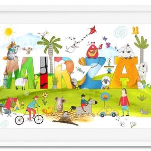 Névreszóló egyedi kisfiú kislány unisex névtábla gyerekszoba poszter KERETTEL, Keresztelő szülinapi névadó ajándék print, Gyerek & játék, Gyerekszoba, Otthon & lakás, Dekoráció, Lakberendezés, Képkeret, Falikép, Fotó, grafika, rajz, illusztráció, Kisbaba érkezik a családba? \nBabalátogatóba mész?\nBiztosan telitalálat lesz ez a vidám színekből, fő..., Meska